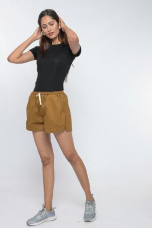 drawstring tie up cotton shorts 30looks