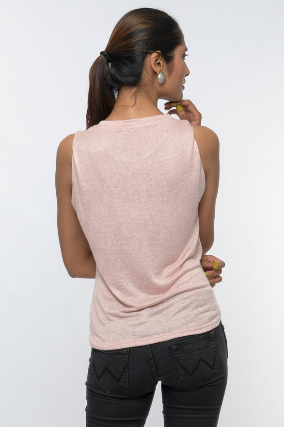 printed sleeveless graphic tee