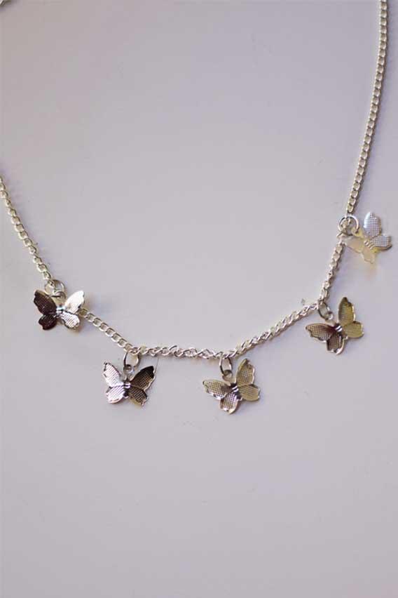 Elena Necklace in Silver