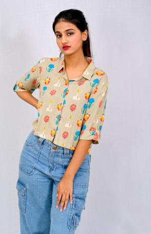 Mysa Crop Shirt